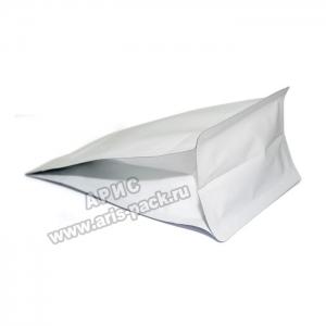 Пакет с плоским дном Белый (боковой зип)