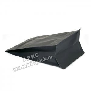 Пакет с плоским дном Чёрный (боковой зип)