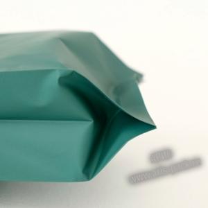 Пакет с центральным швом (тактильный лак) Зеленый