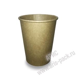 Стакан бумажный для горячих напитков крафт 250 мл (мин 1000 шт.)